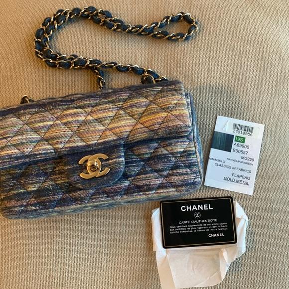 CHANEL Handbags - Chanel denim mini flap